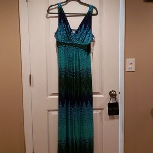 Multi Color Blue Maxi Dress